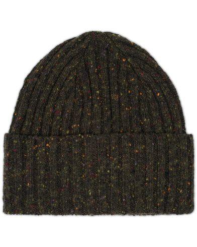 Drake's Donegal Wool Hat Dark Green