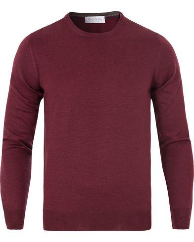 Gran Sasso Merino Fashion Fit C-Neck Pullover Bordeaux Red