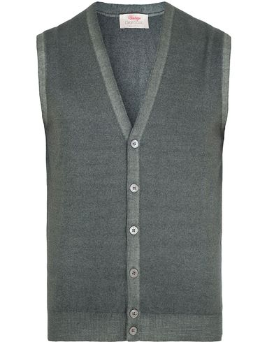 Gran Sasso Merino Vintage Fashion Fit Gilet Grey