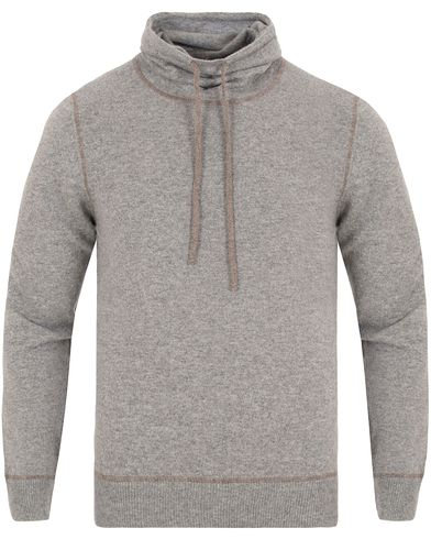 Gran Sasso Cashmere Shawl Collar Pullover Light Grey