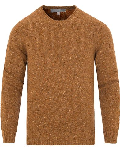 Gieves & Hawkes Donegal Crew Neck Sweater Gold