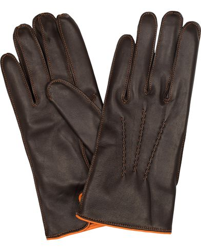 Dents The Heritage Collection Alnwick Hairsheep Glove Brown/Tangerine