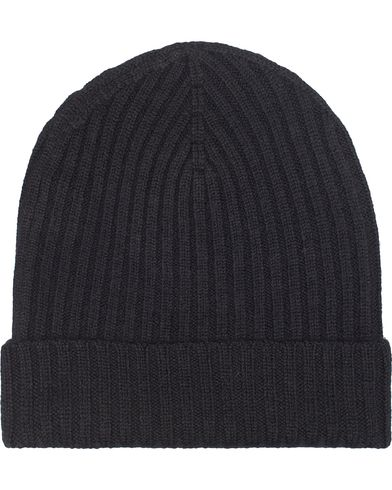Amanda Christensen Rib Knitted Merino Cap Black