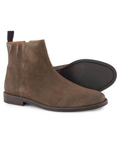 GANT Max Zip Chelsea Boot Iron Grey Suede
