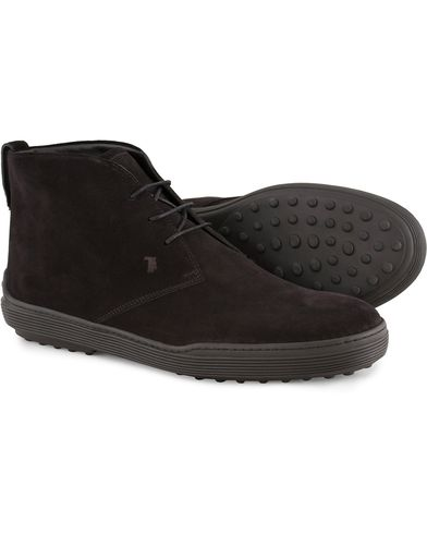 Tod's Polacco Mid Sneaker Black Suede