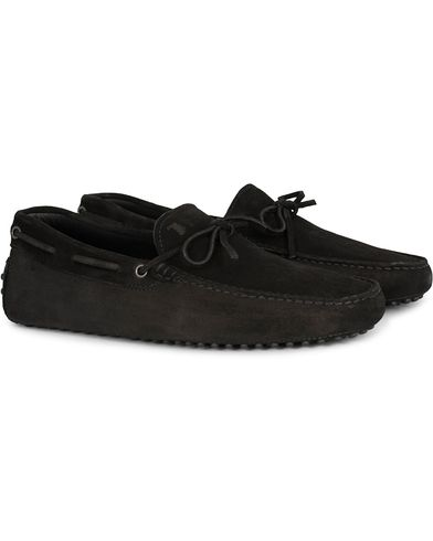 Tod's Laccetto Gommino Carshoe Black Suede