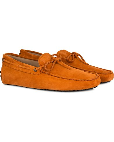 Tod's Laccetto Gommino Carshoe Orange Suede