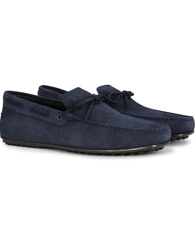 Tod's Laccetto City Carshoe Navy Suede