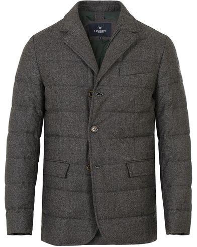 Hackett Wool Down Blazer Jacket Grey