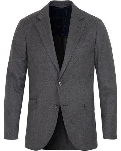 Hackett Plain Flannel Jacket Grey