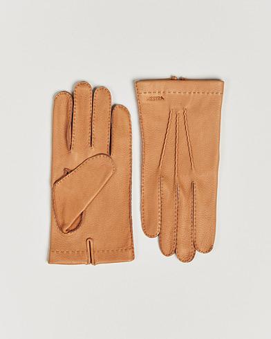 Hestra Henry Unlined Deerskin Glove Cognac