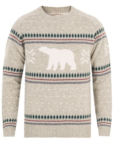 Lexington Forrest Christmas Sweater Light Warm Grey Melange