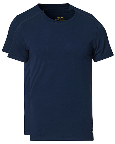 Polo Ralph Lauren 2-Pack Cotton Stretch Cruise Navy i gruppen Klær / T-Shirts / Kortermede t-shirts hos Care of Carl (13181211r)