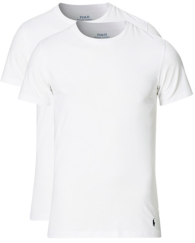 Polo Ralph Lauren 2-Pack Cotton Stretch White i gruppen Klær / T-Shirts / Kortermede t-shirts hos Care of Carl (13181311r)