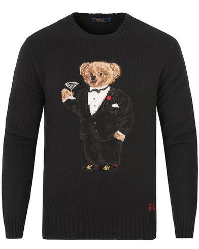 Polo Ralph Lauren Bear Tuxedo Knitted Sweater Black