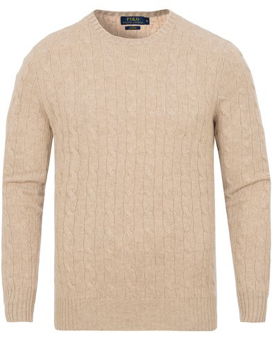 Polo Ralph Lauren Cashmere Knitted Cable Oatmeal