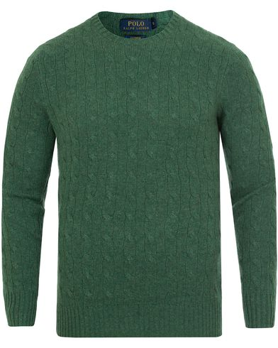 Polo Ralph Lauren Cashmere Knitted Cable Baron Green Heather