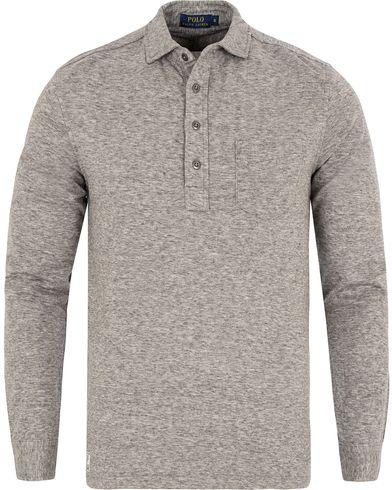 Polo Ralph Lauren Long Sleeve Jersey Pocket polo Battalion Heather