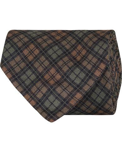 Polo Ralph Lauren Printed Hunting Checks Tie Brown/Green