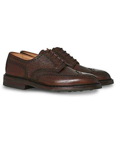 Crockett & Jones Pembroke Derbys Dark Brown Grained Calf i gruppen Sko / Brogues hos Care of Carl (13235111r)