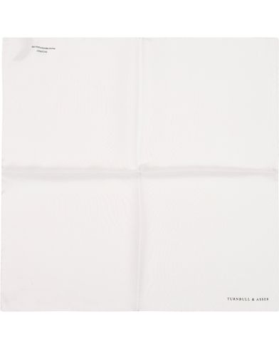 Turnbull & Asser Silk Handkerchief White