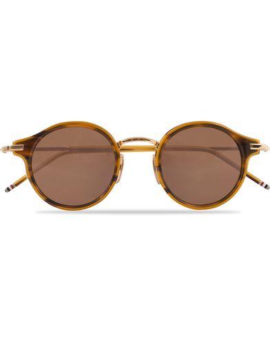 Thom Browne TB-807 Sunglasses Walnut/Dark Brown