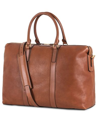 Mismo Misson Leather Weekend Bag Tabac/Cuoio