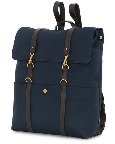 Mismo M/S Nylon Backpack Navy Dark Brown