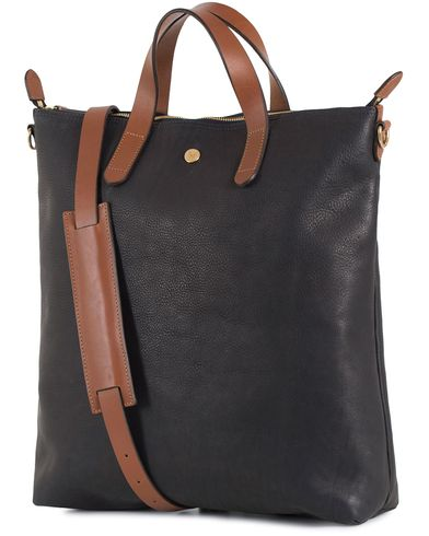 Mismo Leather Shopper Bag Navy/Cuoio