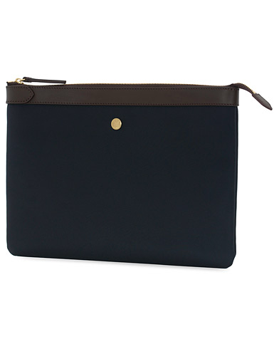 Mismo M/S Nylon Pouch Large Navy/Dark Brown