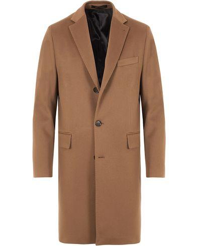 Oscar Jacobson Savile Row Loro Piana Storm System Coat Dark Brown