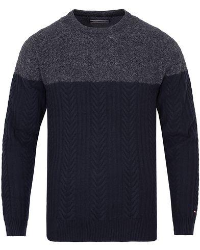 Tommy Hilfiger Elim Block Sweater Silver Fog Heather