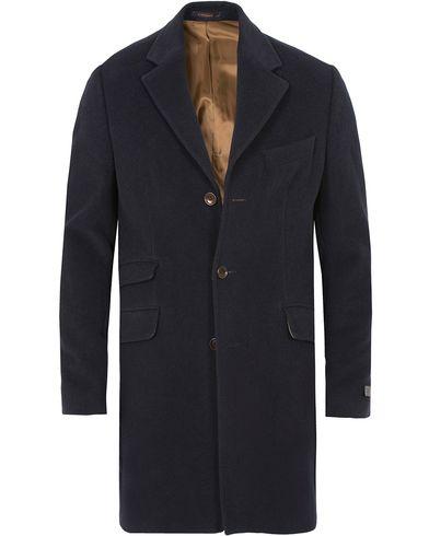 Morris William Wool Coat Navy