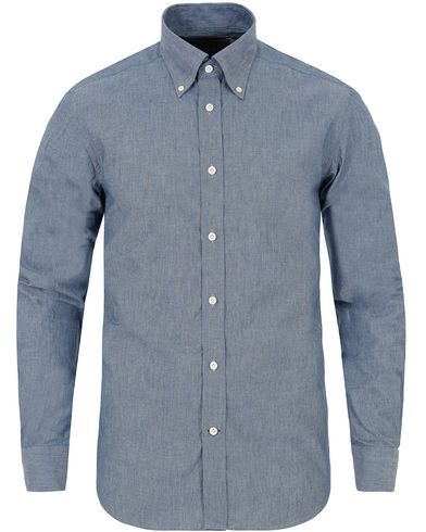 Morris Heritage Chambray Button Down Shirt Blue