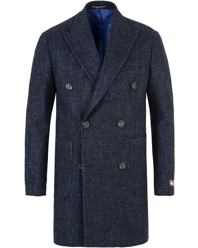 Morris Heritage Herringbone Coat Blazer Navy