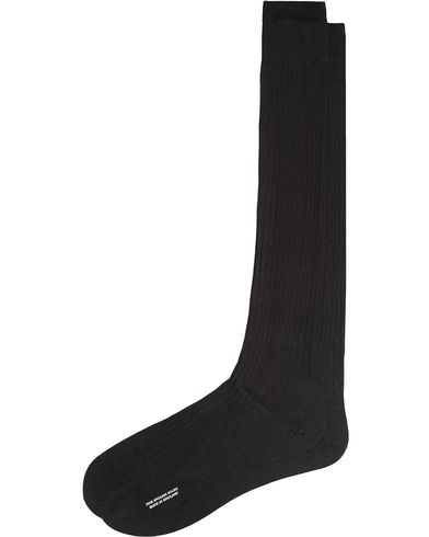 Pantherella Baffin Silk Long Sock Black