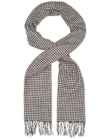 Eton Dogtooth Wool Scarves Black/White