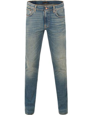Nudie Jeans Lean Dean Organic Slim Fit Stretch Jeans Silver L