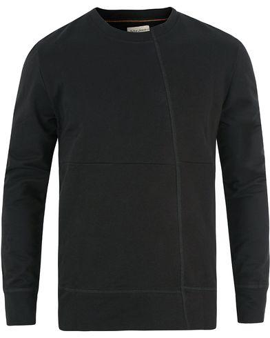 Nudie Jeans Simon Skewed Crew Neck Sweater Black