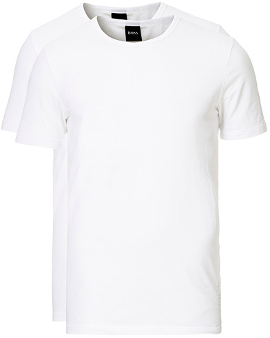 BOSS 2-Pack Crew Neck Slim Fit Tee White i gruppen Klær / T-Shirts / Kortermede t-shirts hos Care of Carl (13453611r)