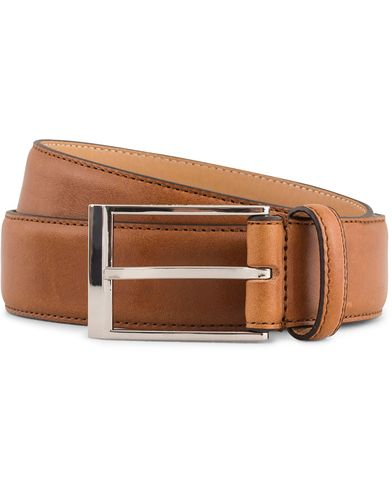 Tiger of Sweden Helmi Leather 3,5 cm Belt Light Brown i gruppen Assesoarer / Belter / Umønstrede belter hos Care of Carl (13492011r)