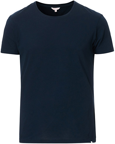 Orlebar Brown OB Crew Neck Tee Navy i gruppen Klær / T-Shirts / Kortermede t-shirts hos Care of Carl (13496211r)