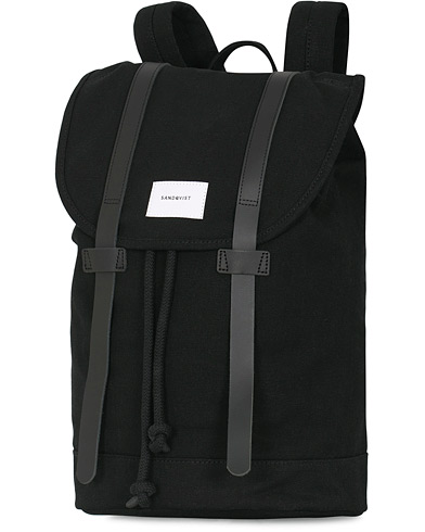 Sandqvist Stig Canvas Backpack Black  i gruppen Assesoarer / Vesker / Ryggsekker hos Care of Carl (13496310)