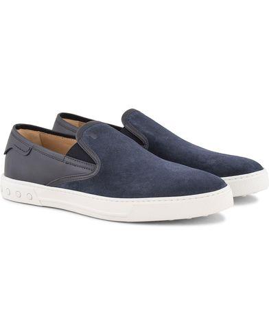 Tod's Pantofola Cassetta Sneaker Navy Suede