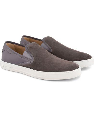 Tod's Pantofola Cassetta Sneaker Grey Suede