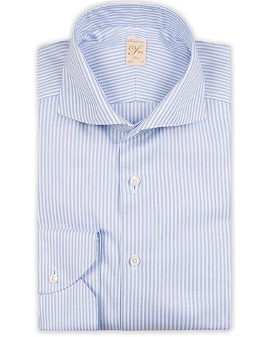 Stenströms 1899 Slimline Supima Cotton Striped Shirt White/blue i gruppen Klær / Skjorter / Formelle / Businesskjorter hos Care of Carl (13512911r)