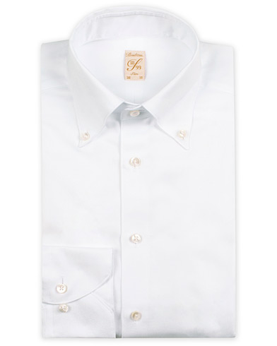 Stenströms 1899 Slimline Supima Cotton Structure Shirt White
