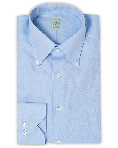 Stenströms 1899 Slimline Supima Cotton Structure Shirt Blue