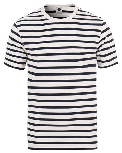 NN07 Basic Stripe Tee 3297 Navy