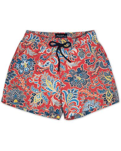 Etro Ponza Printed Flower Swimtrunk Red